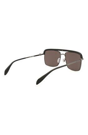 Женские солнцезащитные очки ALEXANDER MCQUEEN черного цвета, арт. AM0258S 002   Фото 5