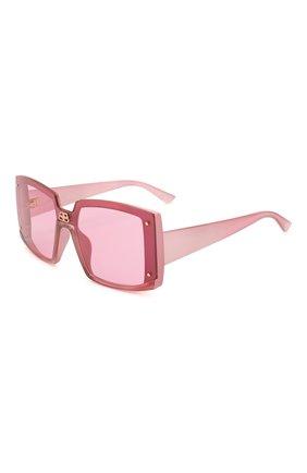 Мужские солнцезащитные очки BALENCIAGA темно-розового цвета, арт. BB0081S 004 | Фото 1