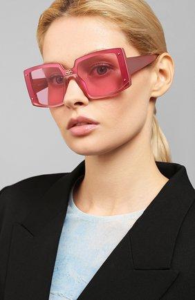 Мужские солнцезащитные очки BALENCIAGA темно-розового цвета, арт. BB0081S 004 | Фото 2