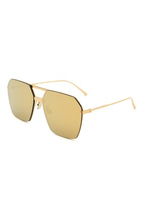Мужские солнцезащитные очки BOTTEGA VENETA золотого цвета, арт. BV1045S 002 | Фото 1