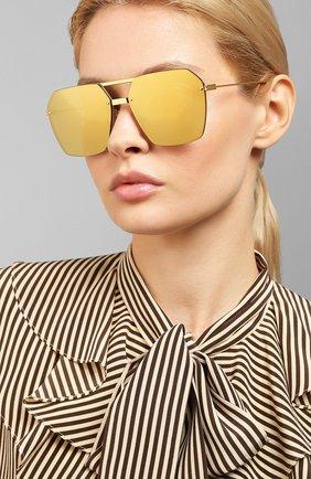 Мужские солнцезащитные очки BOTTEGA VENETA золотого цвета, арт. BV1045S 002 | Фото 2