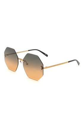 Мужские солнцезащитные очки STELLA MCCARTNEY золотого цвета, арт. SC0233S 003 | Фото 1