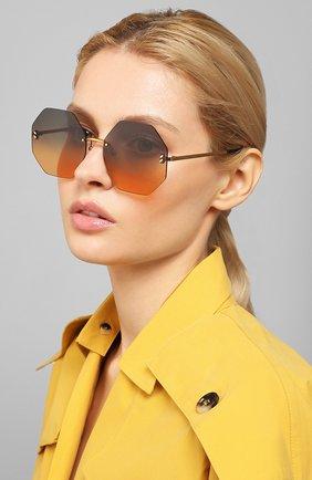 Мужские солнцезащитные очки STELLA MCCARTNEY золотого цвета, арт. SC0233S 003 | Фото 2