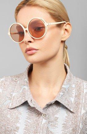 Мужские солнцезащитные очки LINDA FARROW белого цвета, арт. LFL989C3 SUN | Фото 2