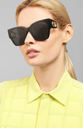 Женские солнцезащитные очки DIOR черного цвета, арт. 30M0NTAIGNE1 807 2K | Фото 2