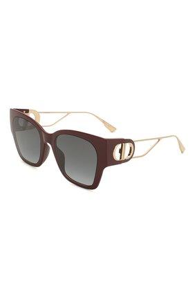 Женские солнцезащитные очки DIOR бордового цвета, арт. 30M0NTAIGNE1 LHF | Фото 1 (Тип очков: С/з; Очки форма: Прямоугольные; Оптика Гендер: оптика-женское)