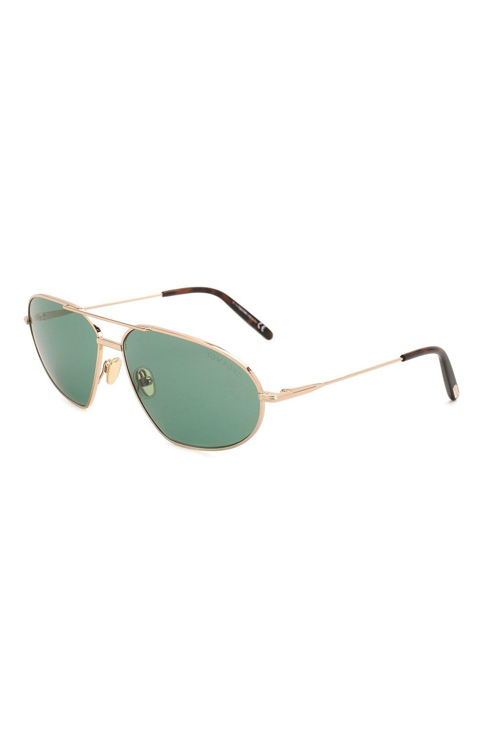 Мужские солнцезащитные очки TOM FORD темно-зеленого цвета, арт. TF771 28N   Фото 1