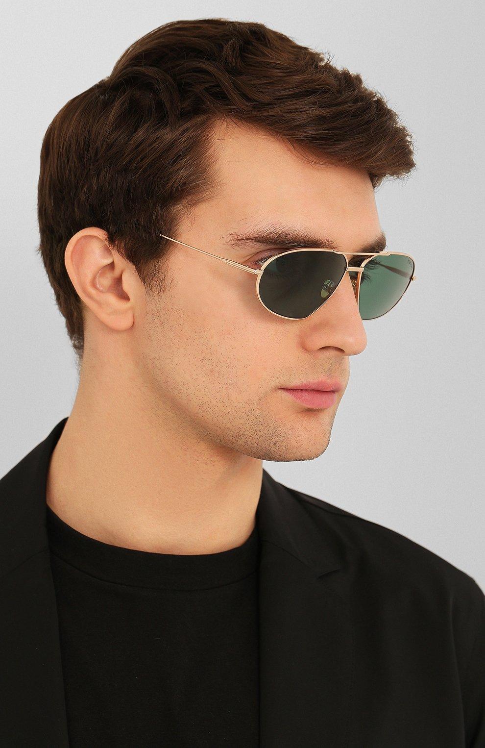 Мужские солнцезащитные очки TOM FORD темно-зеленого цвета, арт. TF771 28N   Фото 2