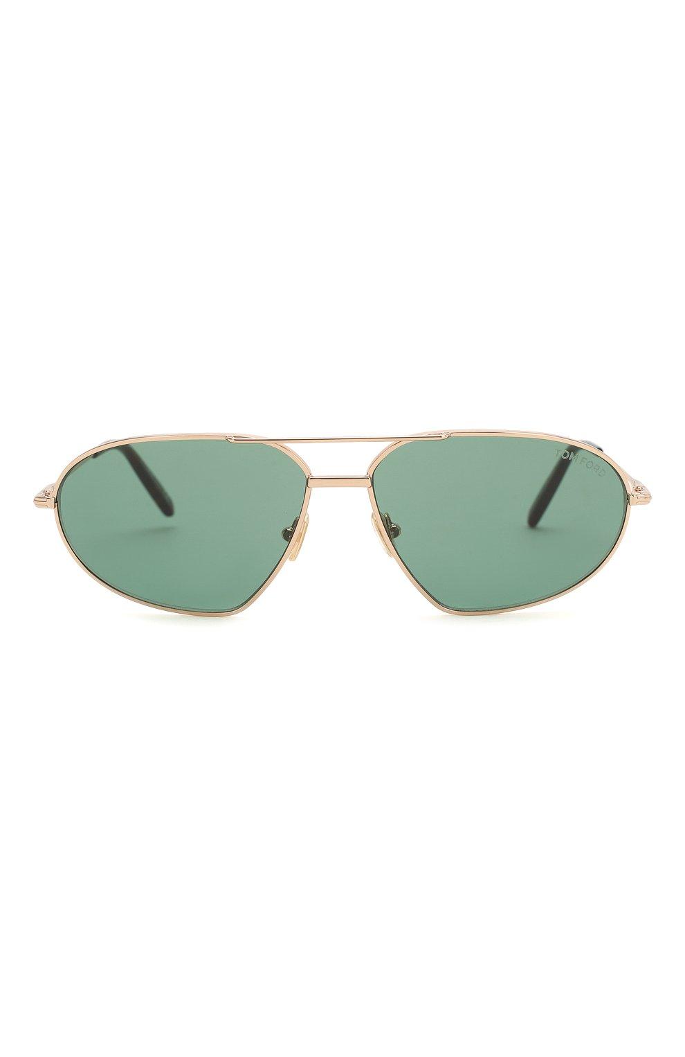 Мужские солнцезащитные очки TOM FORD темно-зеленого цвета, арт. TF771 28N   Фото 3