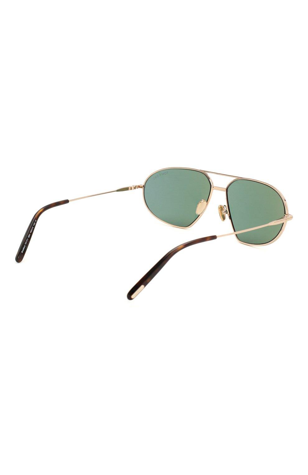 Мужские солнцезащитные очки TOM FORD темно-зеленого цвета, арт. TF771 28N   Фото 4