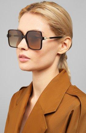Женские солнцезащитные очки FENDI коричневого цвета, арт. 0411 086   Фото 2