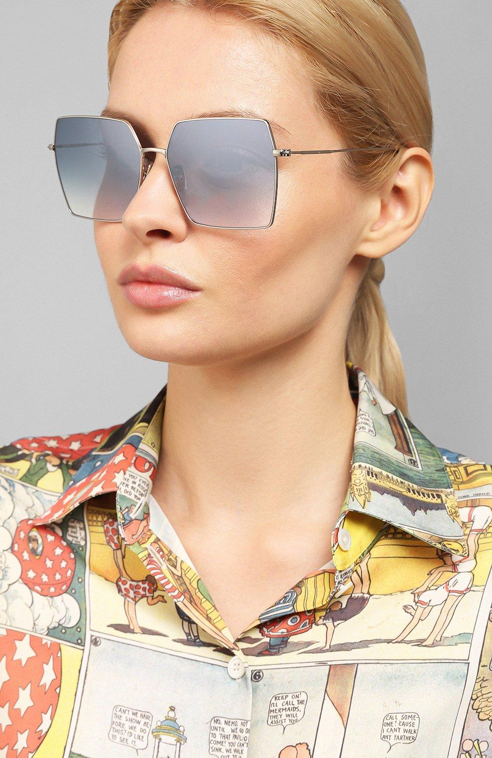 Женские солнцезащитные очки EYEPETIZER голубого цвета, арт. R0DINE 1-12F | Фото 2