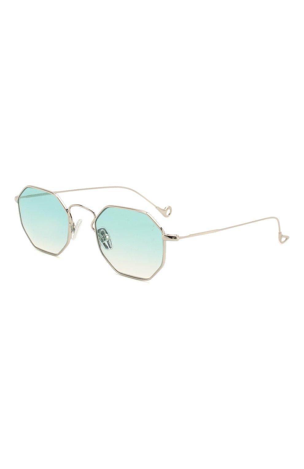 Женские солнцезащитные очки EYEPETIZER голубого цвета, арт. CLAIRE 1-21 | Фото 1 (Тип очков: С/з; Очки форма: Креативные, Прямоугольные; Оптика Гендер: оптика-унисекс)
