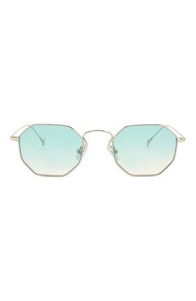Женские солнцезащитные очки EYEPETIZER голубого цвета, арт. CLAIRE 1-21 | Фото 4 (Тип очков: С/з; Очки форма: Креативные, Прямоугольные; Оптика Гендер: оптика-унисекс)
