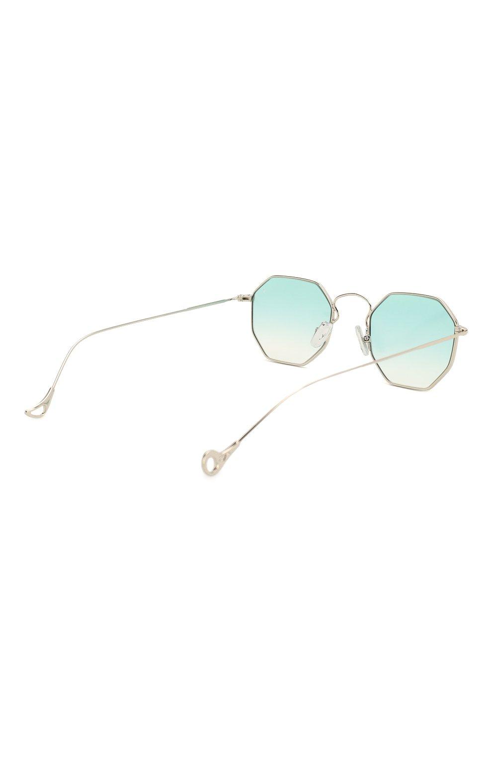 Женские солнцезащитные очки EYEPETIZER голубого цвета, арт. CLAIRE 1-21 | Фото 5 (Тип очков: С/з; Очки форма: Креативные, Прямоугольные; Оптика Гендер: оптика-унисекс)