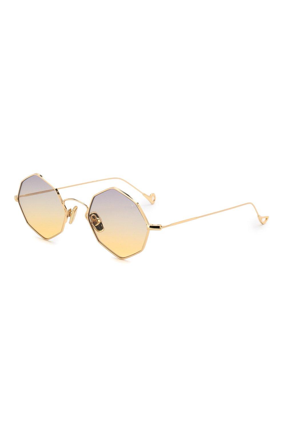 Женские солнцезащитные очки EYEPETIZER золотого цвета, арт. CHARL0TTE 4-19   Фото 1 (Тип очков: С/з; Очки форма: Креативные, Круглые; Оптика Гендер: оптика-унисекс)