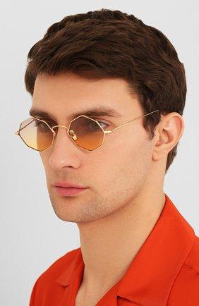 Женские солнцезащитные очки EYEPETIZER золотого цвета, арт. CHARL0TTE 4-19   Фото 3 (Тип очков: С/з; Очки форма: Креативные, Круглые; Оптика Гендер: оптика-унисекс)