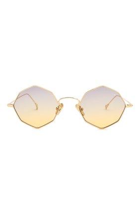 Женские солнцезащитные очки EYEPETIZER золотого цвета, арт. CHARL0TTE 4-19   Фото 4 (Тип очков: С/з; Очки форма: Креативные, Круглые; Оптика Гендер: оптика-унисекс)