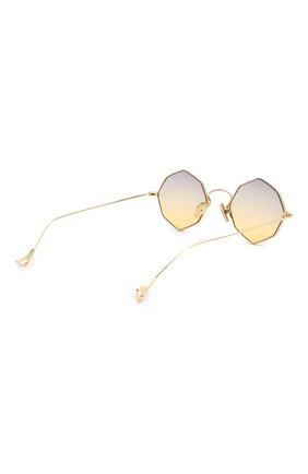 Женские солнцезащитные очки EYEPETIZER золотого цвета, арт. CHARL0TTE 4-19   Фото 5 (Тип очков: С/з; Очки форма: Креативные, Круглые; Оптика Гендер: оптика-унисекс)