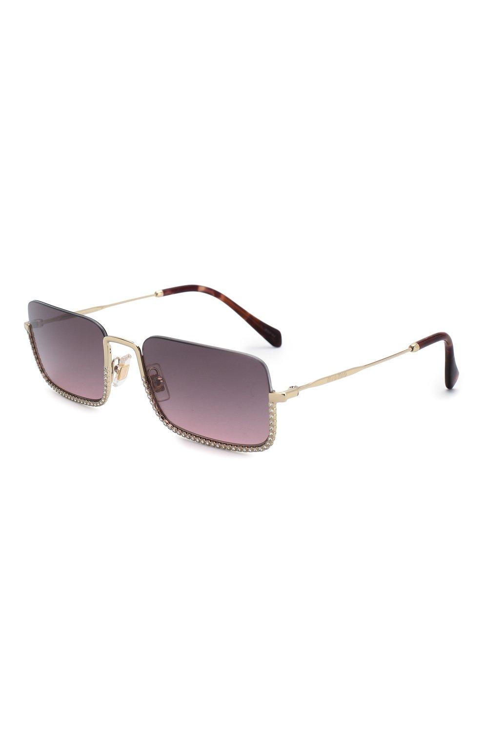 Женские солнцезащитные очки MIU MIU темно-фиолетового цвета, арт. 70US-ZVN146 | Фото 1