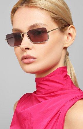 Женские солнцезащитные очки MIU MIU темно-фиолетового цвета, арт. 70US-ZVN146 | Фото 2