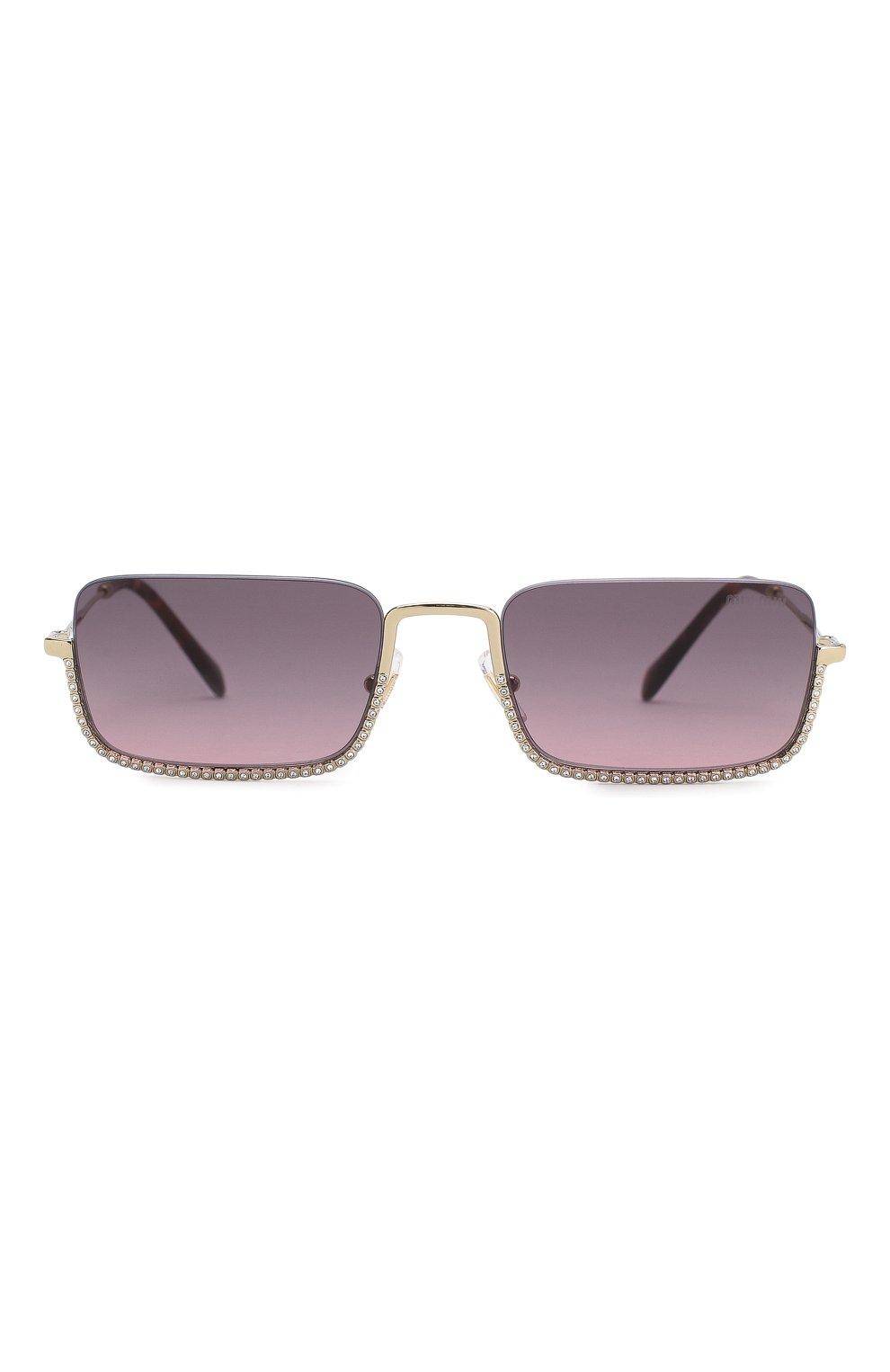Женские солнцезащитные очки MIU MIU темно-фиолетового цвета, арт. 70US-ZVN146 | Фото 3