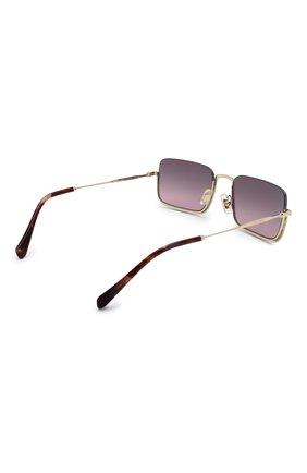 Женские солнцезащитные очки MIU MIU темно-фиолетового цвета, арт. 70US-ZVN146 | Фото 4