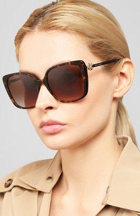 Женские солнцезащитные очки BVLGARI коричневого цвета, арт. 8225B-504/13 | Фото 2
