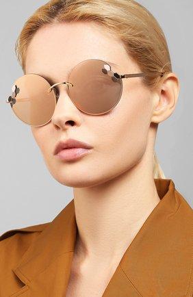 Мужские солнцезащитные очки BVLGARI золотого цвета, арт. 6124-20144Z | Фото 2