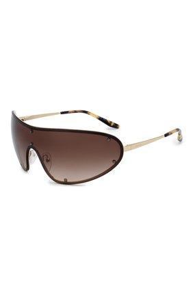 Мужские солнцезащитные очки PRADA коричневого цвета, арт. 73VS-ZVN6S1 | Фото 1