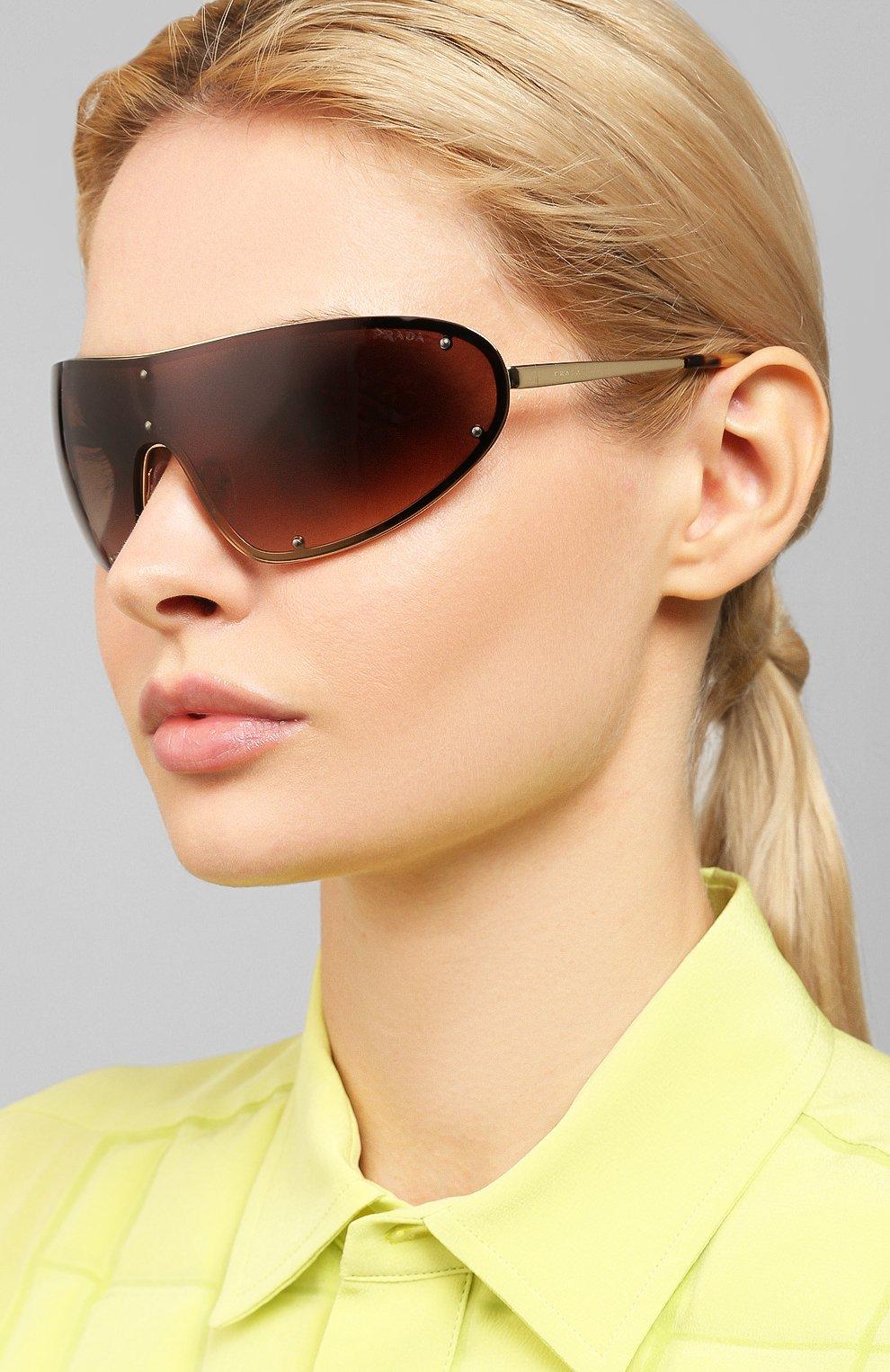 Женские солнцезащитные очки PRADA коричневого цвета, арт. 73VS-ZVN6S1 | Фото 2
