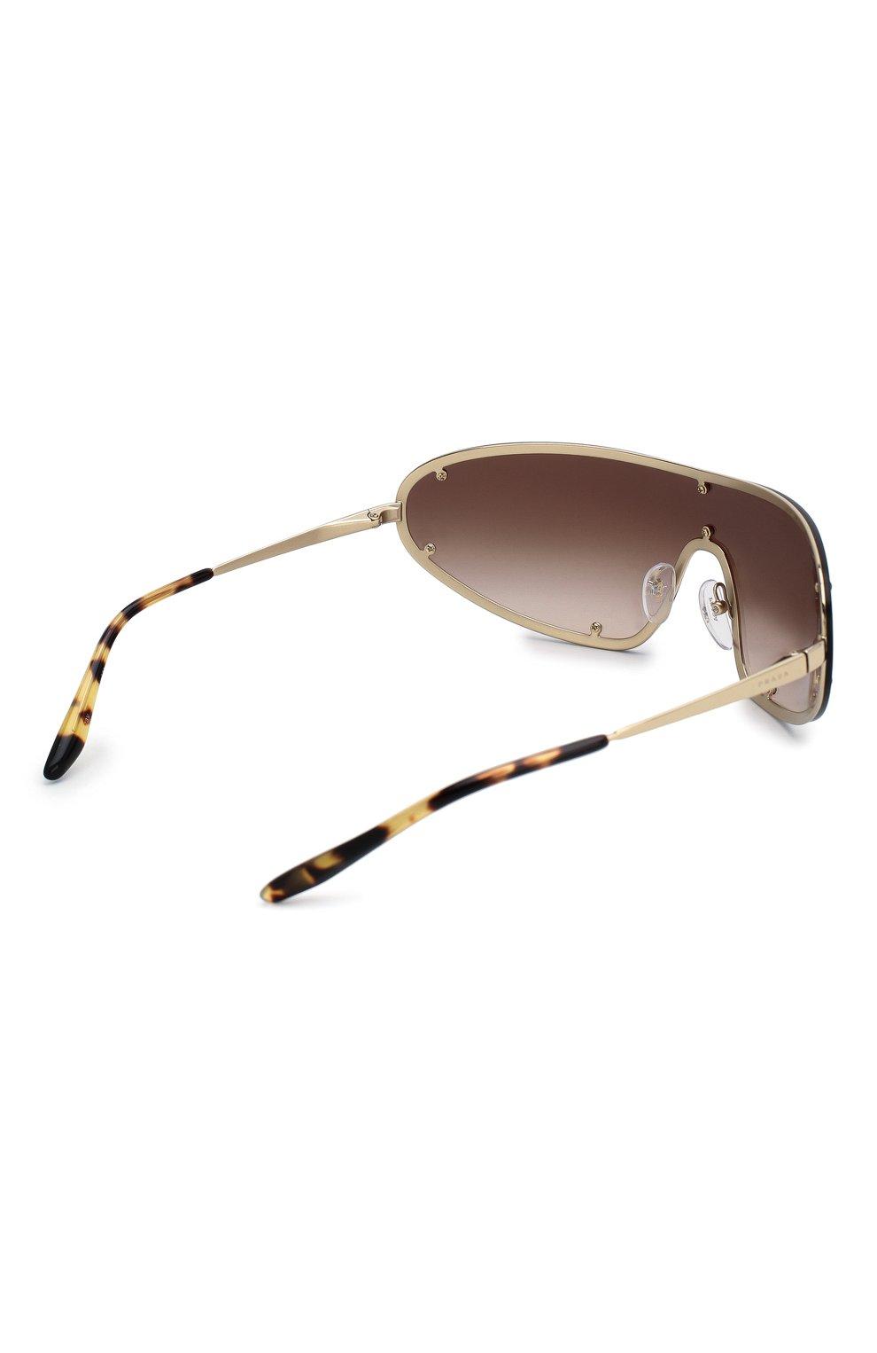 Женские солнцезащитные очки PRADA коричневого цвета, арт. 73VS-ZVN6S1 | Фото 4