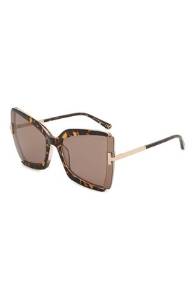 Мужские солнцезащитные очки TOM FORD коричневого цвета, арт. TF766 | Фото 1
