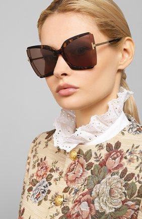 Мужские солнцезащитные очки TOM FORD коричневого цвета, арт. TF766 | Фото 2