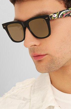 Мужские солнцезащитные очки BAPE серого цвета, арт. 1F70182047 | Фото 2