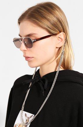 Мужские солнцезащитные очки ÉTUDES серебряного цвета, арт. CANDIDATE WHITE SILVER RT WITH CHAIN | Фото 2