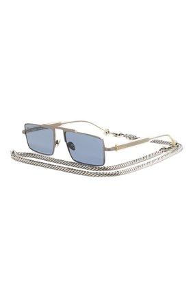 Мужские солнцезащитные очки ÉTUDES серебряного цвета, арт. EASTERN SILVER CH WITH CHAIN | Фото 1