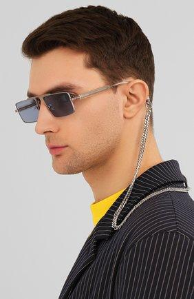 Женские солнцезащитные очки ÉTUDES серебряного цвета, арт. EASTERN SILVER CH WITH CHAIN   Фото 3