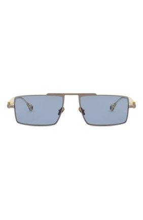 Женские солнцезащитные очки ÉTUDES серебряного цвета, арт. EASTERN SILVER CH WITH CHAIN   Фото 4