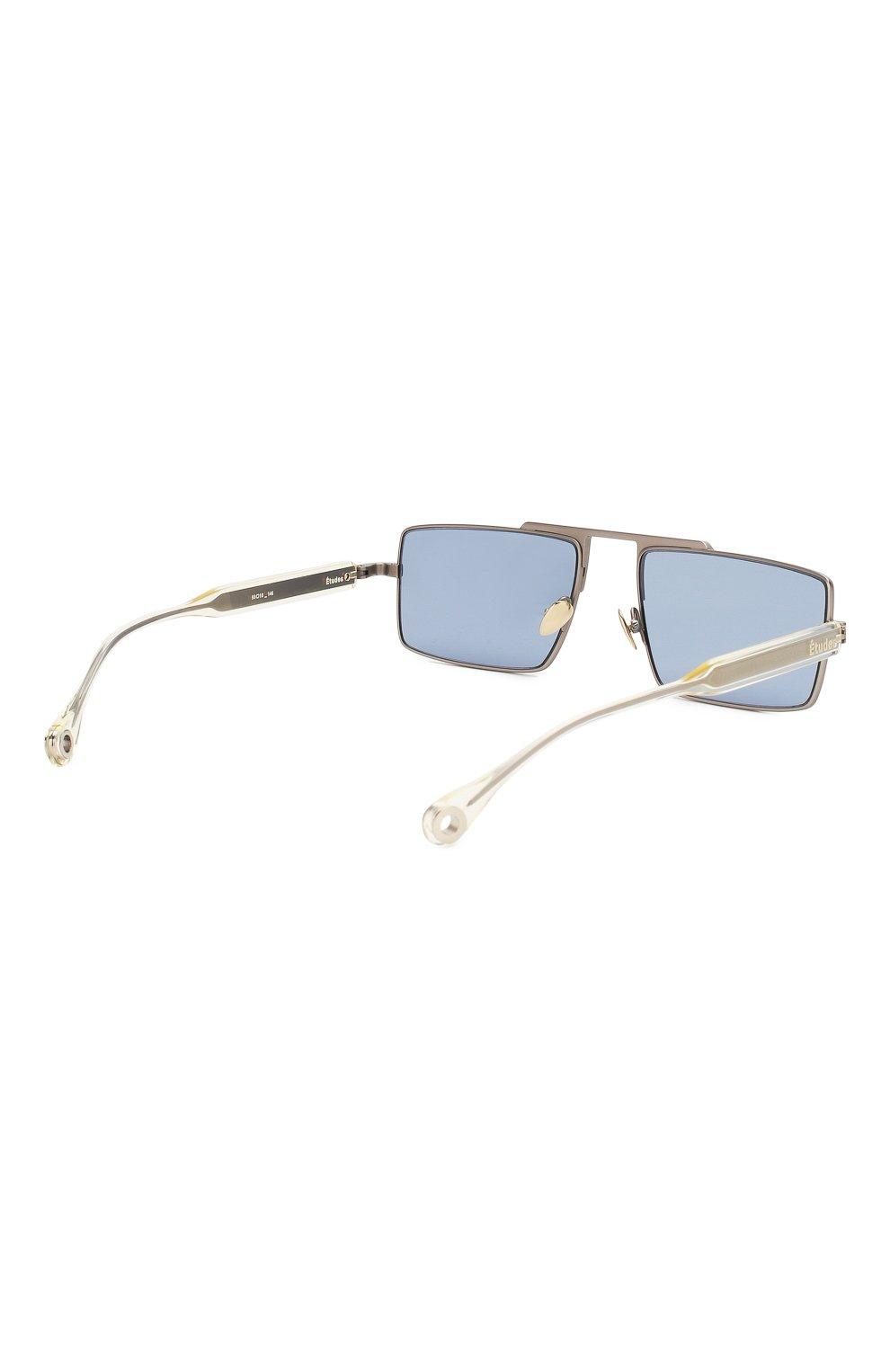 Женские солнцезащитные очки ÉTUDES серебряного цвета, арт. EASTERN SILVER CH WITH CHAIN   Фото 5