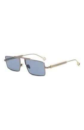 Женские солнцезащитные очки ÉTUDES серебряного цвета, арт. EASTERN SILVER CH WITH CHAIN   Фото 6