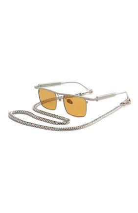 Мужские солнцезащитные очки ÉTUDES оранжевого цвета, арт. KARMA GREY CR WITH CHAIN | Фото 1