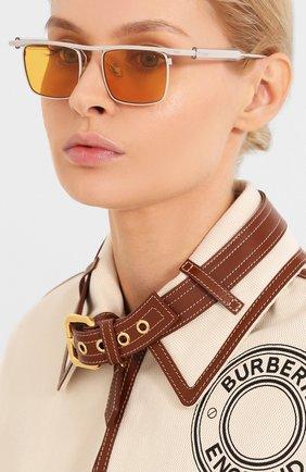Мужские солнцезащитные очки ÉTUDES оранжевого цвета, арт. KARMA GREY CR WITH CHAIN | Фото 2