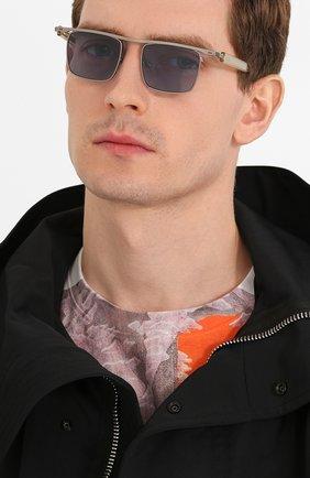 Мужские солнцезащитные очки ÉTUDES серебряного цвета, арт. KARMA SILVER CH WITH CHAIN   Фото 2