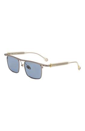 Мужские солнцезащитные очки ÉTUDES серебряного цвета, арт. KARMA SILVER CH WITH CHAIN   Фото 3