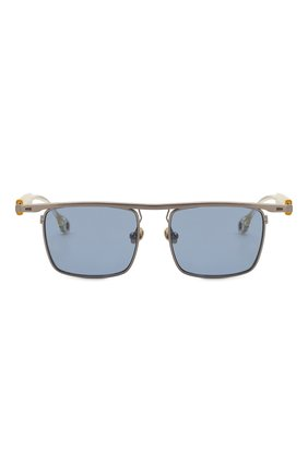 Мужские солнцезащитные очки ÉTUDES серебряного цвета, арт. KARMA SILVER CH WITH CHAIN   Фото 4