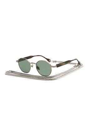 Мужские солнцезащитные очки ÉTUDES серебряного цвета, арт. LIBERTE SILVER GR WITH CHAIN | Фото 1
