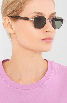 Мужские солнцезащитные очки ÉTUDES серебряного цвета, арт. LIBERTE SILVER GR WITH CHAIN | Фото 2