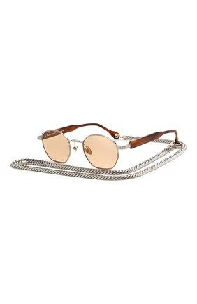 Мужские солнцезащитные очки ÉTUDES серебряного цвета, арт. LIBERTE WHITE SILVER RT C0RAIL WITH CHAIN | Фото 1