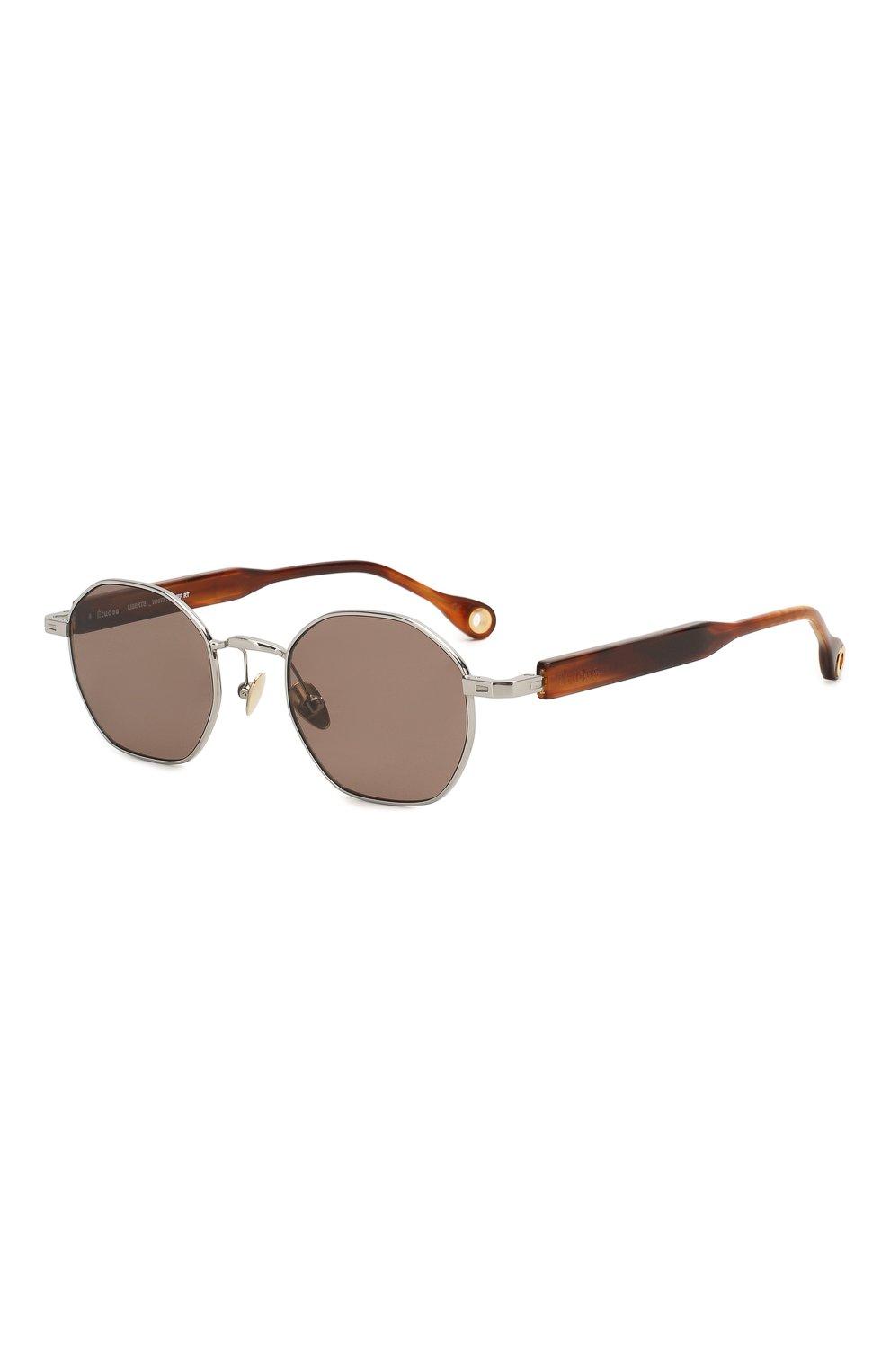 Женские солнцезащитные очки ÉTUDES серебряного цвета, арт. LIBERTE WHITE SILVER RT WITH CHAIN | Фото 4